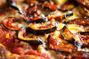 Baked eggplant pizza