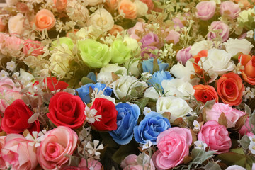 colorful bouquet of roses for background,romance concept