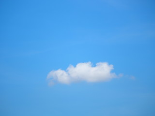 Background white clound on Blue Sky