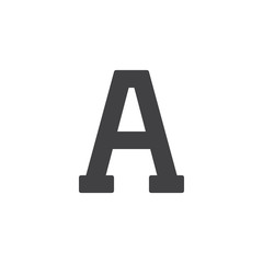 Alpha letter vector icon. filled flat sign for mobile concept and web design. Greek alphabet symbols simple solid icon. Symbol, logo illustration. Pixel perfect vector graphics
