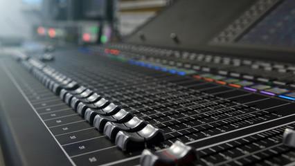 studio audio mixer.