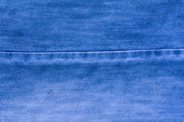 Close-up blue fabric as background