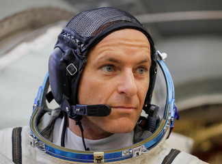 Crew member of the International Space Station (ISS) astronaut David Saint-Jacques of Canada attends the final qualification training for upcoming space mission in Star City near Moscow