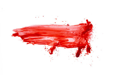 blood or paint splatters isolated on white background,graphic resources,halloween concept
