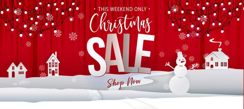 Christmas sale offer banner