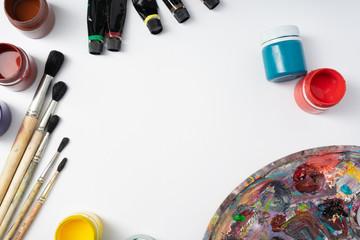 Color paint brush background