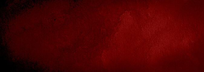 Dark red watercolor abstract background, stain, splash of paint, stain, divorce. Alarming, blood red gradient. Vintage pattern for design and decoration. With space for text.