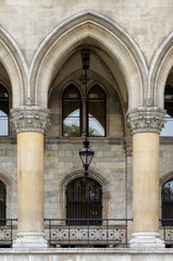Gothic arch / Fragment of the City Hall Facade in Vienna, Austria