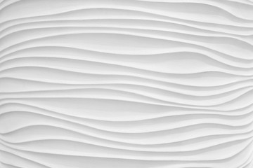 Texture white gypsum wave