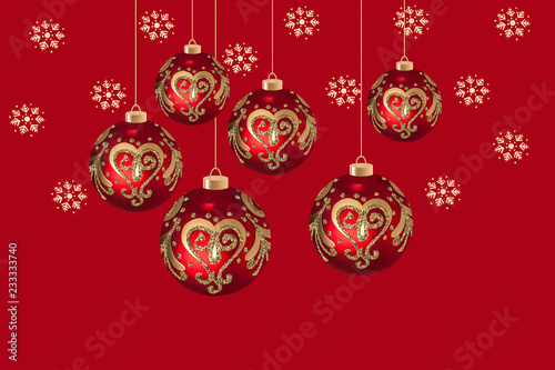 Christmas and New Yearu0027s Day festive wallpaper, ornamental