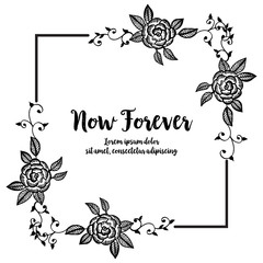 Vector illustration of a beautiful floral border