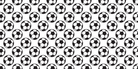 soccer ball seamless pattern vector football sport isolated tile background wallpaper