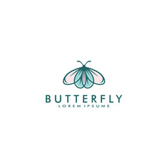 butterfly logo template vector illustration