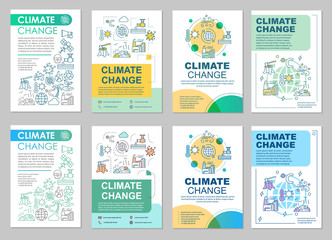 Climate change brochure template layout