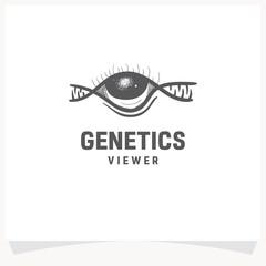Genetics Eye Viewer Hand drawn Logo Design Template