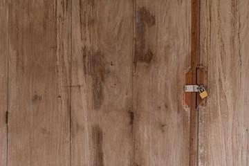 A key locked on wooden door, Locked door