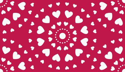 Heart Pattern. Vector Shape.