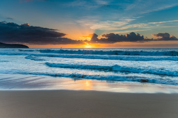 Vibrant Sunrise Seascape