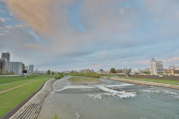 the Landscape of the toyohira River Bridge