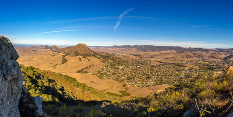Fototapete - San Luis Obispo viewed from the Cerro Peak