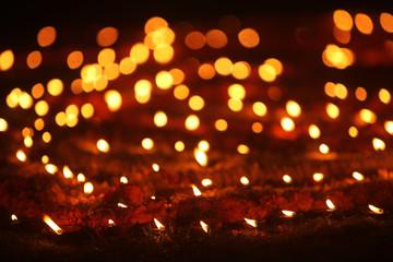 Beautiful Diwali Lamps in Lawn