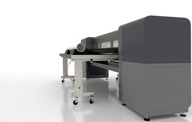 Plotter per stampa di CAD, illustrazione 3d