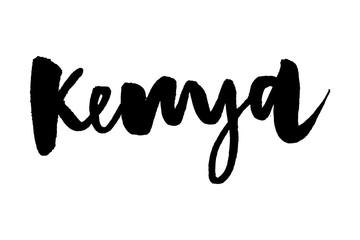 slogan Kenya. Ink hand lettering. Modern brush calligraphy. Handwritten phrase. Inspiration graphic design typography element. Rough simple vector sign.