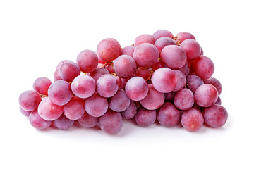 Wall Mural - bunch of red grapes isolated on white