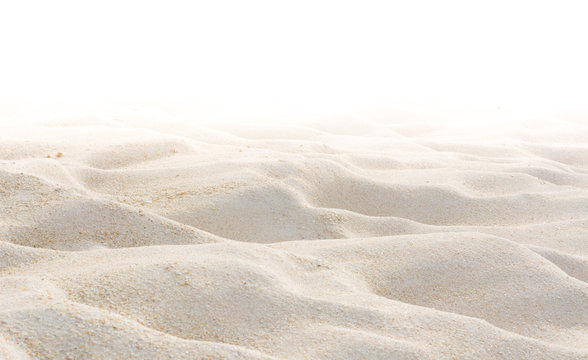 The beach sand on white background
