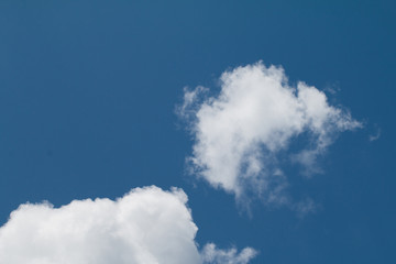 Blue sky with clouds background has space for put text or product
