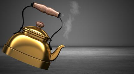 Antico Bollitore cinese per il tè, the, illustrazione 3d