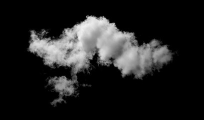 White cloud with  black background Wall mural