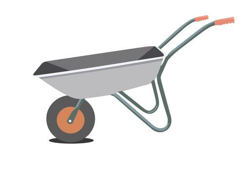 garden wheelbarrow, vector illustration