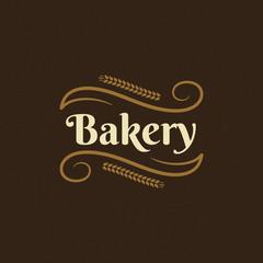 Bakery badge or label retro vector illustration.