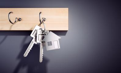 Wohnungs-Schlüssel am Schlüsselbrett