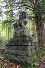参道の狛犬