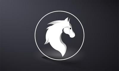 horse logo abstract