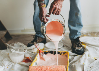 painting the walls pink