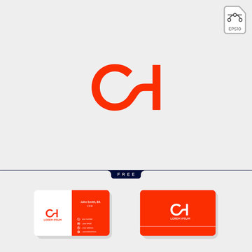 Premium initial CH, HC, C, or H creative logo template vector illustration and logo inspiration