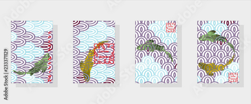 set of fashionable modern design templates for covers national