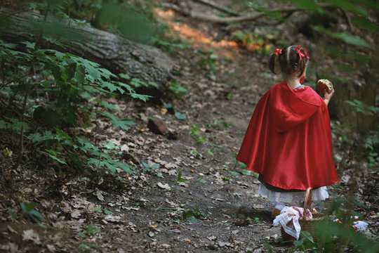 little red riding hood with a wolf
