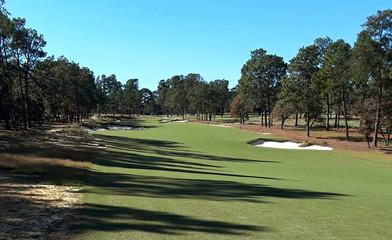 A view of the par-five 17th hole at Pinehurst No. 4 golf course in Pinehurst, North Carolina