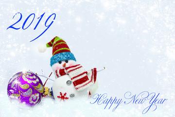 поздравительная открытка. новый год