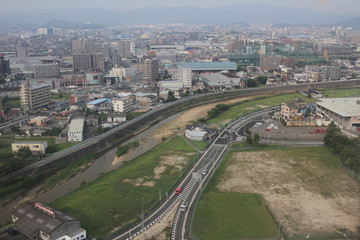 View of Fukuoka cityscape in Kyushu,2016