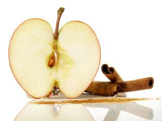 Apfel - Scheibe mit Zimt