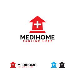 Medical Home logo designs concept vector, Clinic logo template