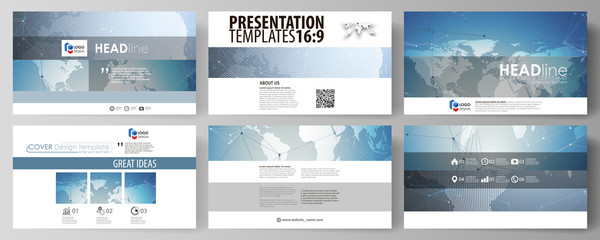 The minimalistic abstract vector illustration of the editable layout of high definition presentation slides design business templates. Scientific medical DNA research. Science or medical concept.
