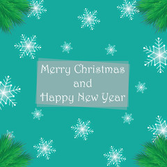 Merry Christmas And Happy New Year Greeting Templates