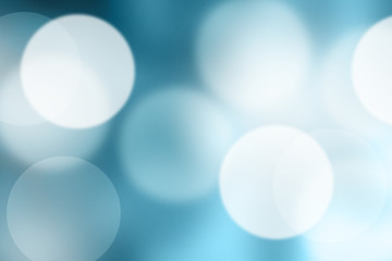Blue blurred bokeh abstract for background