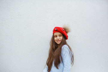 The red beard in the girl's hair. Photo session in the season.